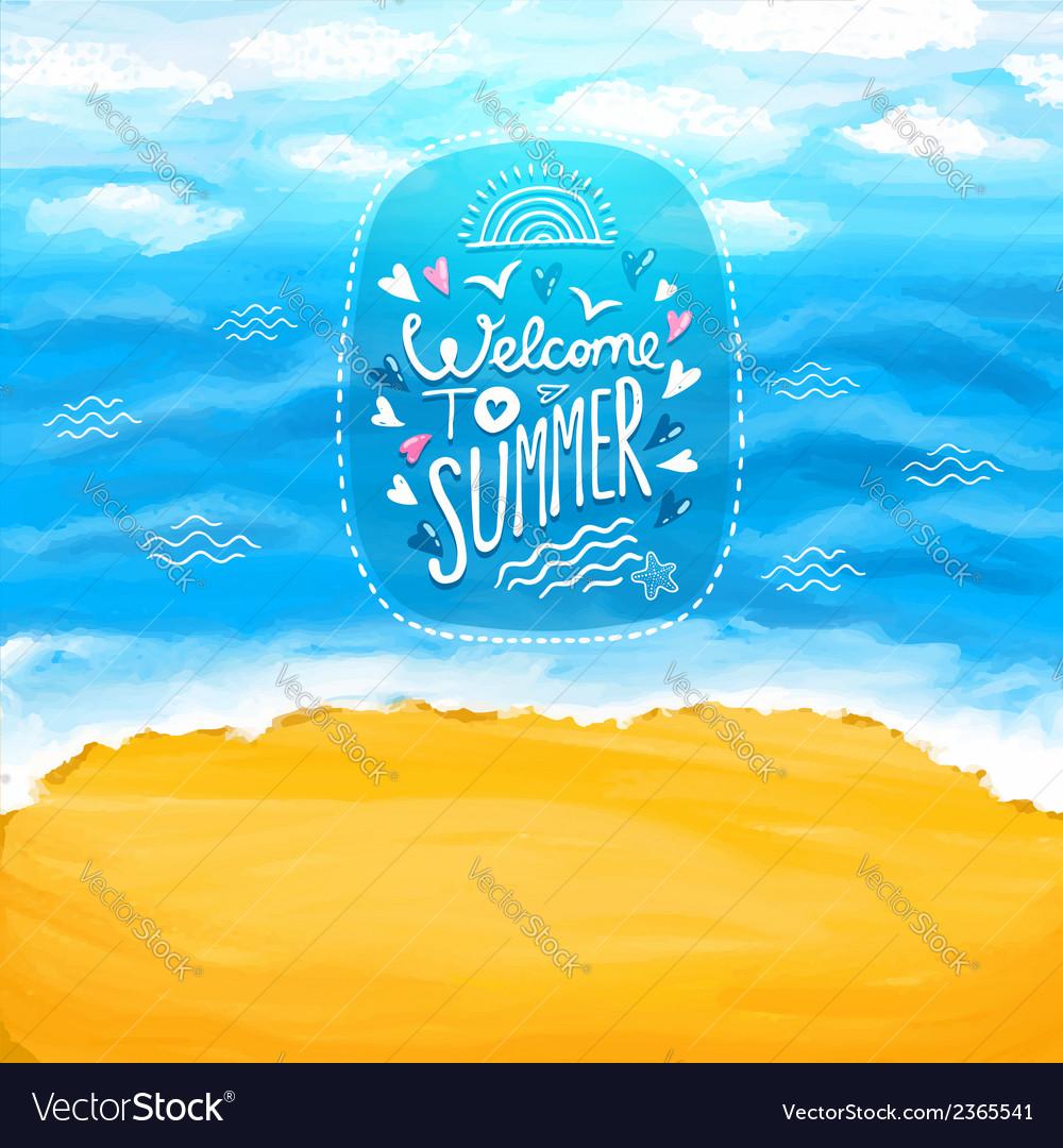 Beach sea sand summer background vector | Price: 1 Credit (USD $1)