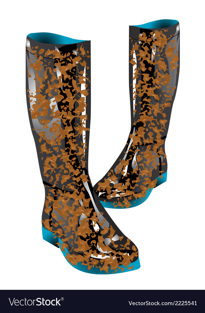 Boots mud vector | Price: 1 Credit (USD $1)