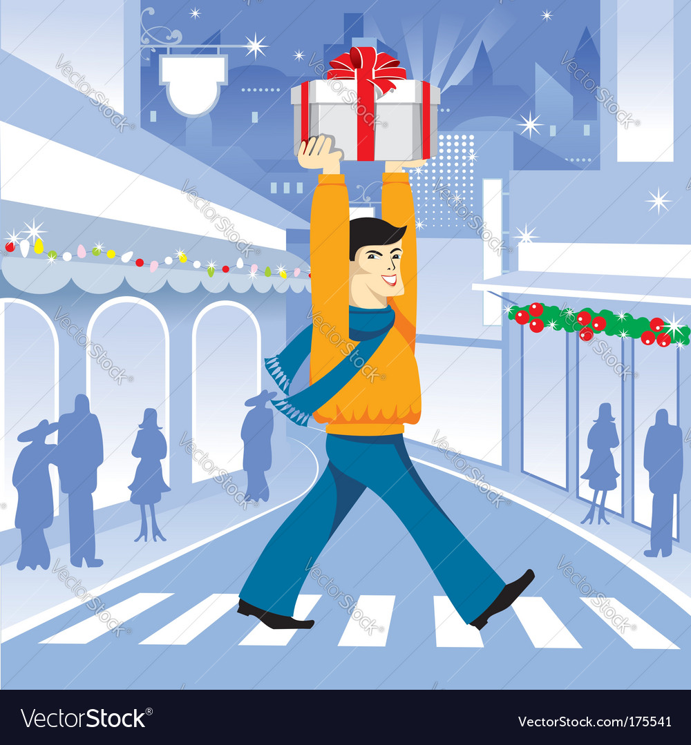 Christmas shopping vector | Price: 3 Credit (USD $3)