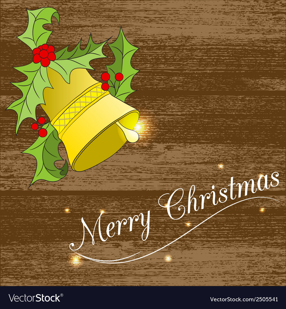 Christmass card with bell vector | Price: 1 Credit (USD $1)