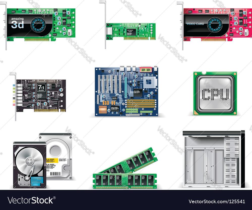 Computer icon vector | Price: 3 Credit (USD $3)
