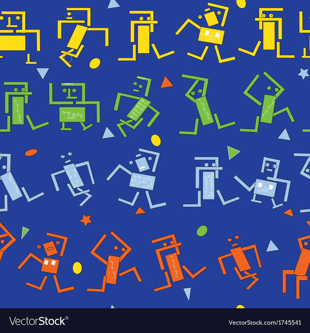 Dancing robots vector | Price: 1 Credit (USD $1)