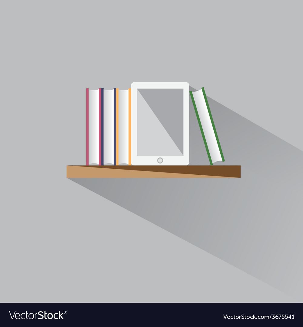 E-book on a shelf vector   Price: 1 Credit (USD $1)