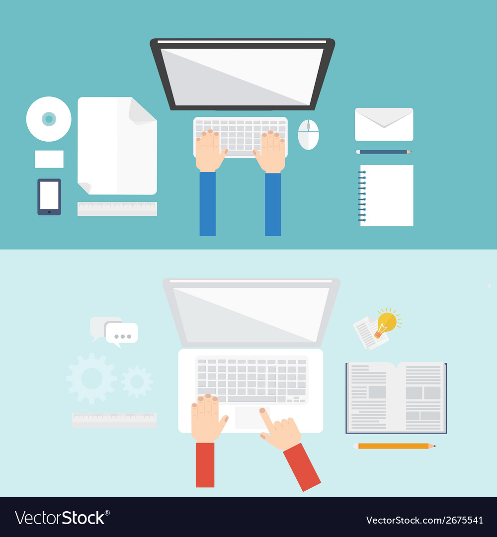 Element of computer concept icon in flat design vector   Price: 1 Credit (USD $1)