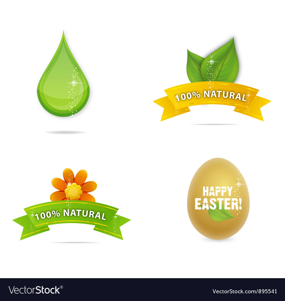 Green nature and magic elegance symbols vector | Price: 3 Credit (USD $3)