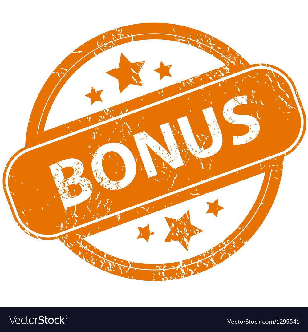 Grunge bonus logo vector | Price: 1 Credit (USD $1)