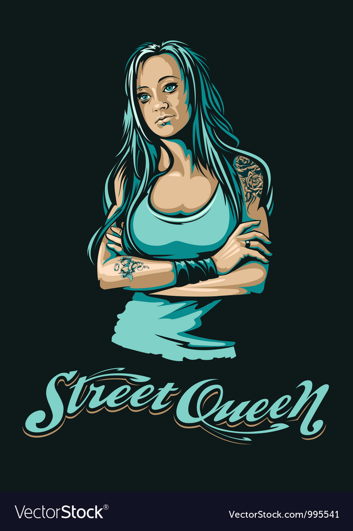 Grungy girl vector | Price: 5 Credit (USD $5)