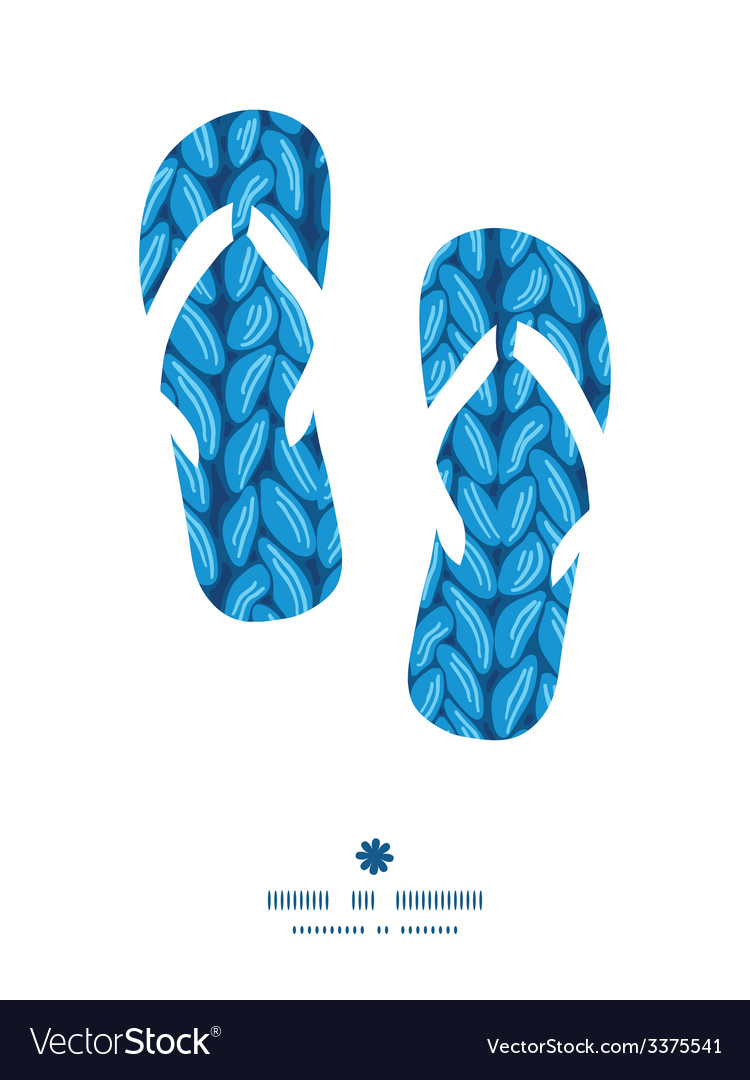 Knit sewater fabric horizontal texture flip flops vector | Price: 1 Credit (USD $1)
