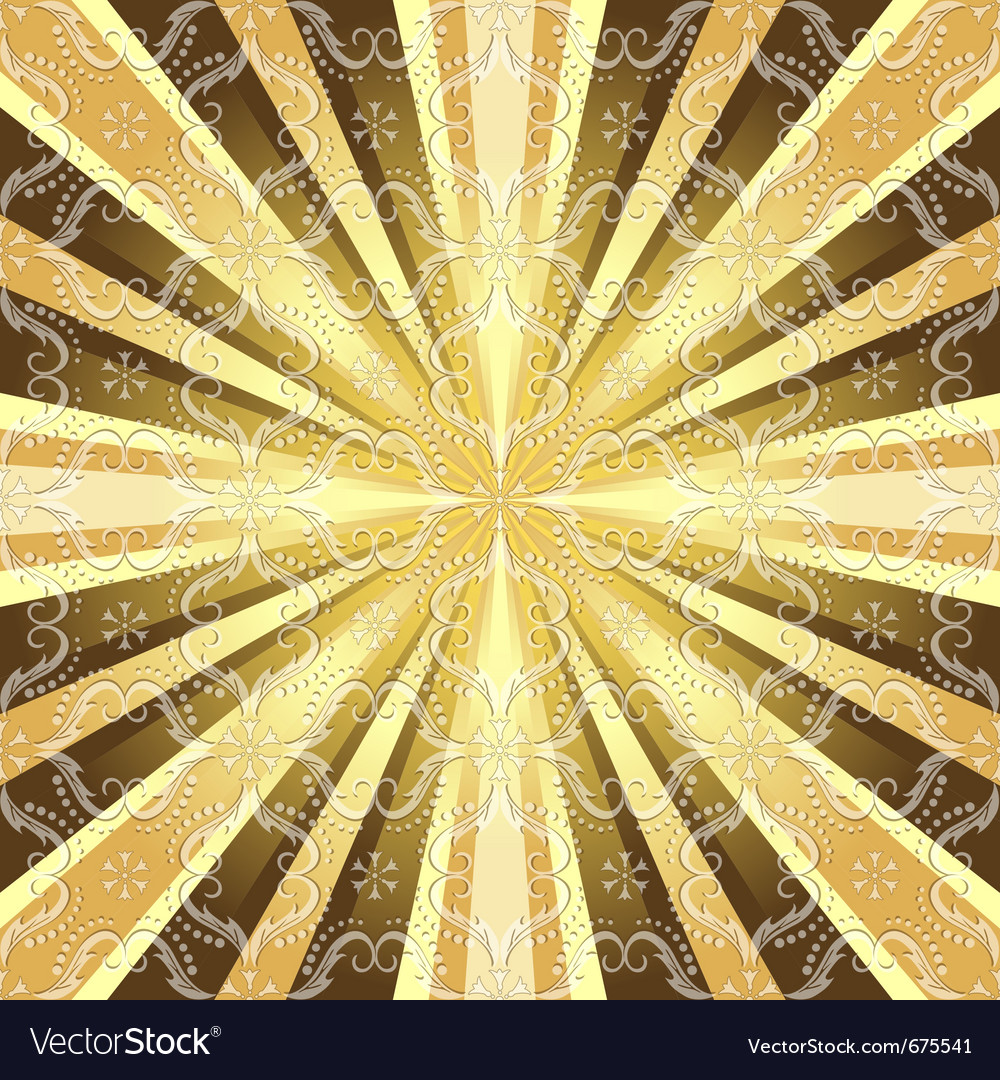 Rays and vintage pattern vector | Price: 1 Credit (USD $1)