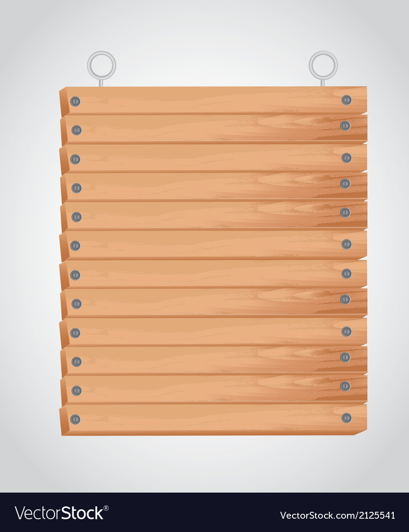 Rectangular wooden board with grommets for hanging vector | Price: 1 Credit (USD $1)