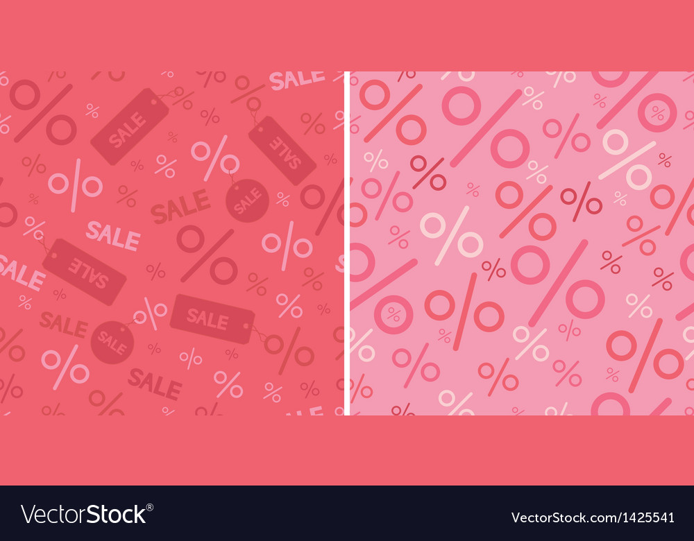 Sale and percentage signs two seamless pattern vector | Price: 1 Credit (USD $1)