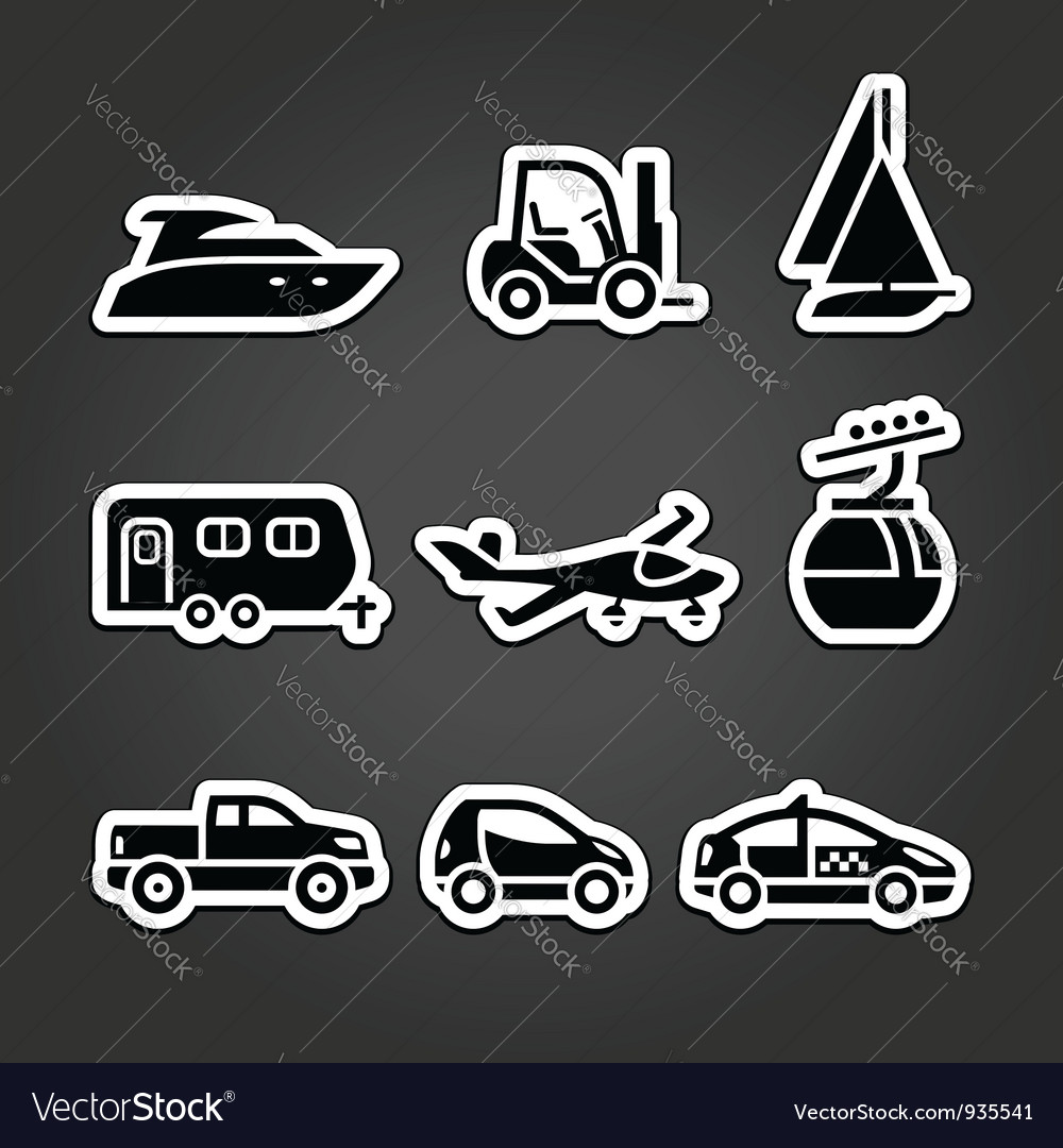 Set labels transport icons vector | Price: 1 Credit (USD $1)