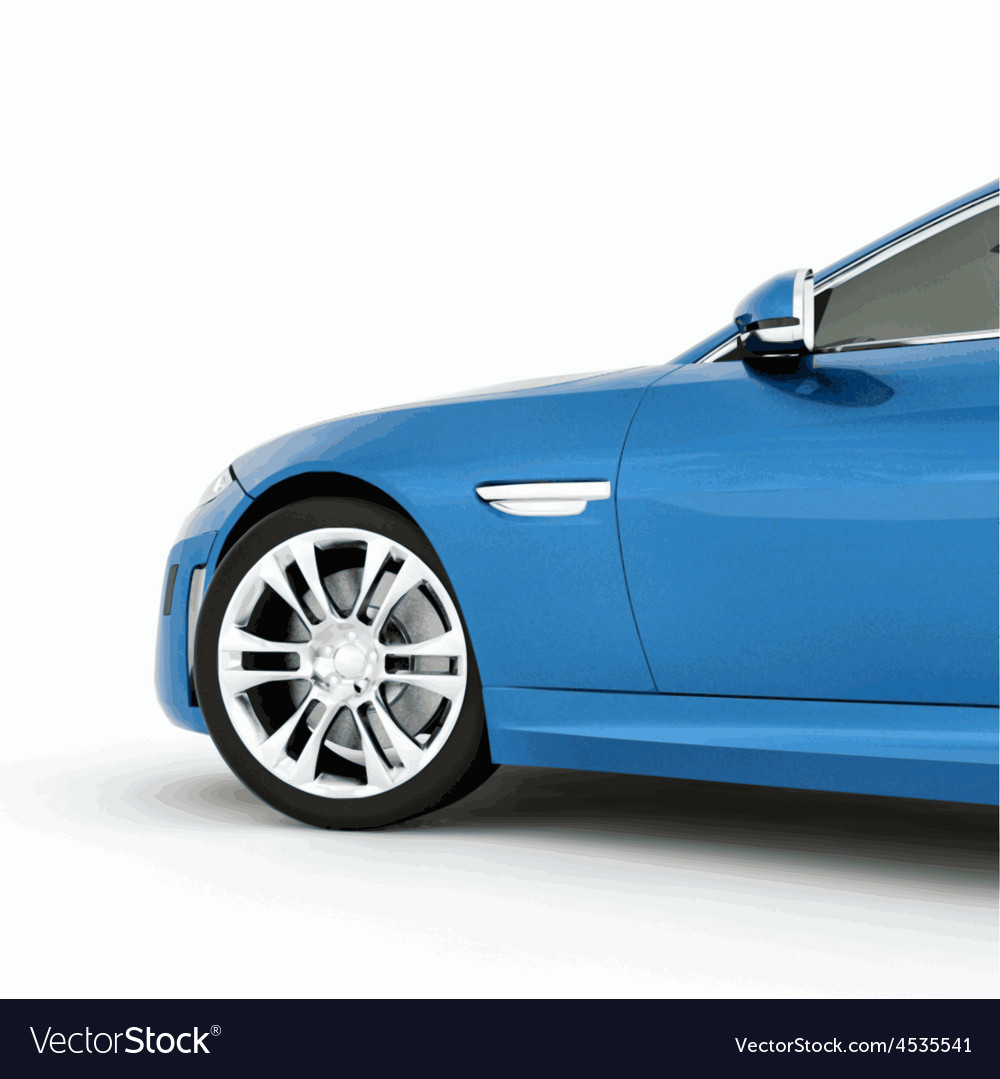 Very fast sport blue car vector | Price: 1 Credit (USD $1)