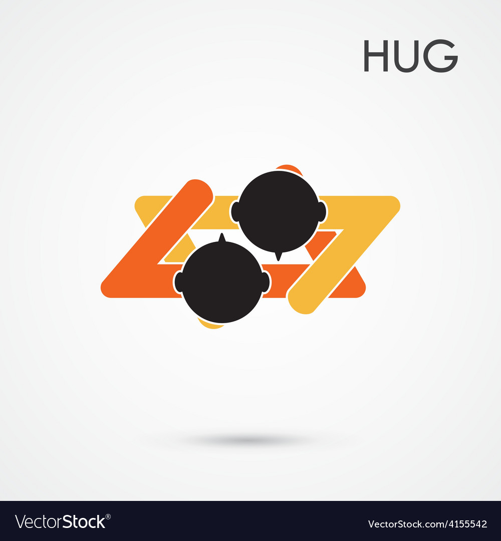 Abstract hug symbol vector | Price: 1 Credit (USD $1)