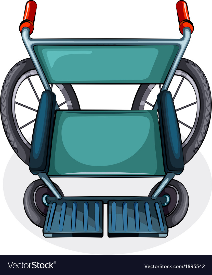 Aerial view of a wheelchair vector | Price: 1 Credit (USD $1)