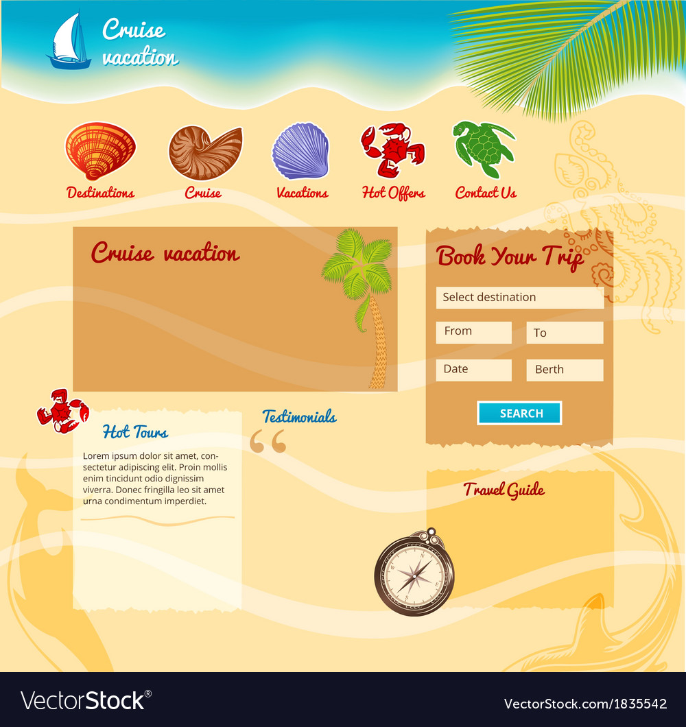 Beach background for website vector | Price: 1 Credit (USD $1)