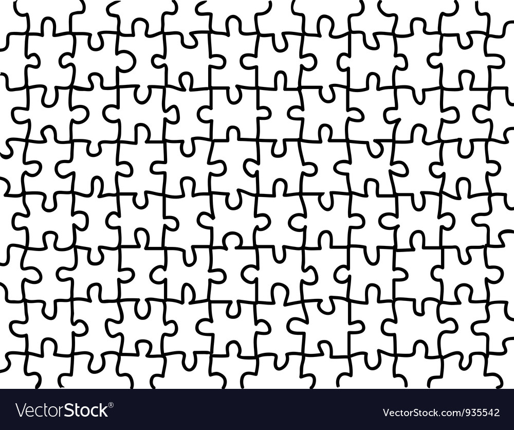 Blank jigsaw puzzle background vector | Price: 1 Credit (USD $1)