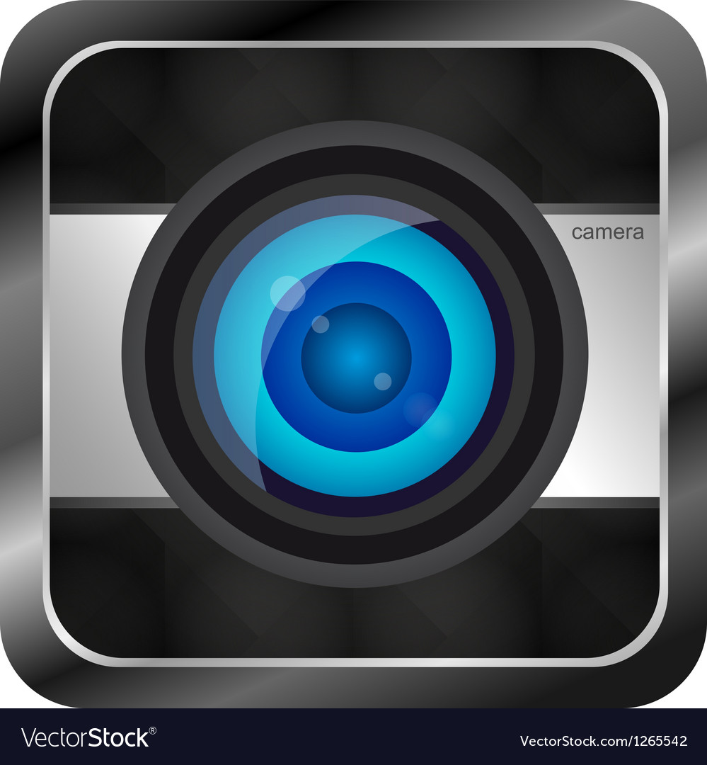 Color photo camera icon vector | Price: 1 Credit (USD $1)
