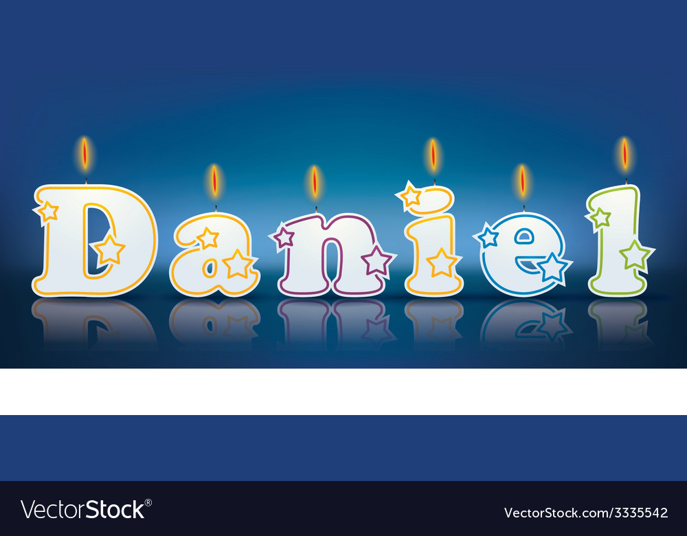 Daniel written with burning candles vector | Price: 1 Credit (USD $1)