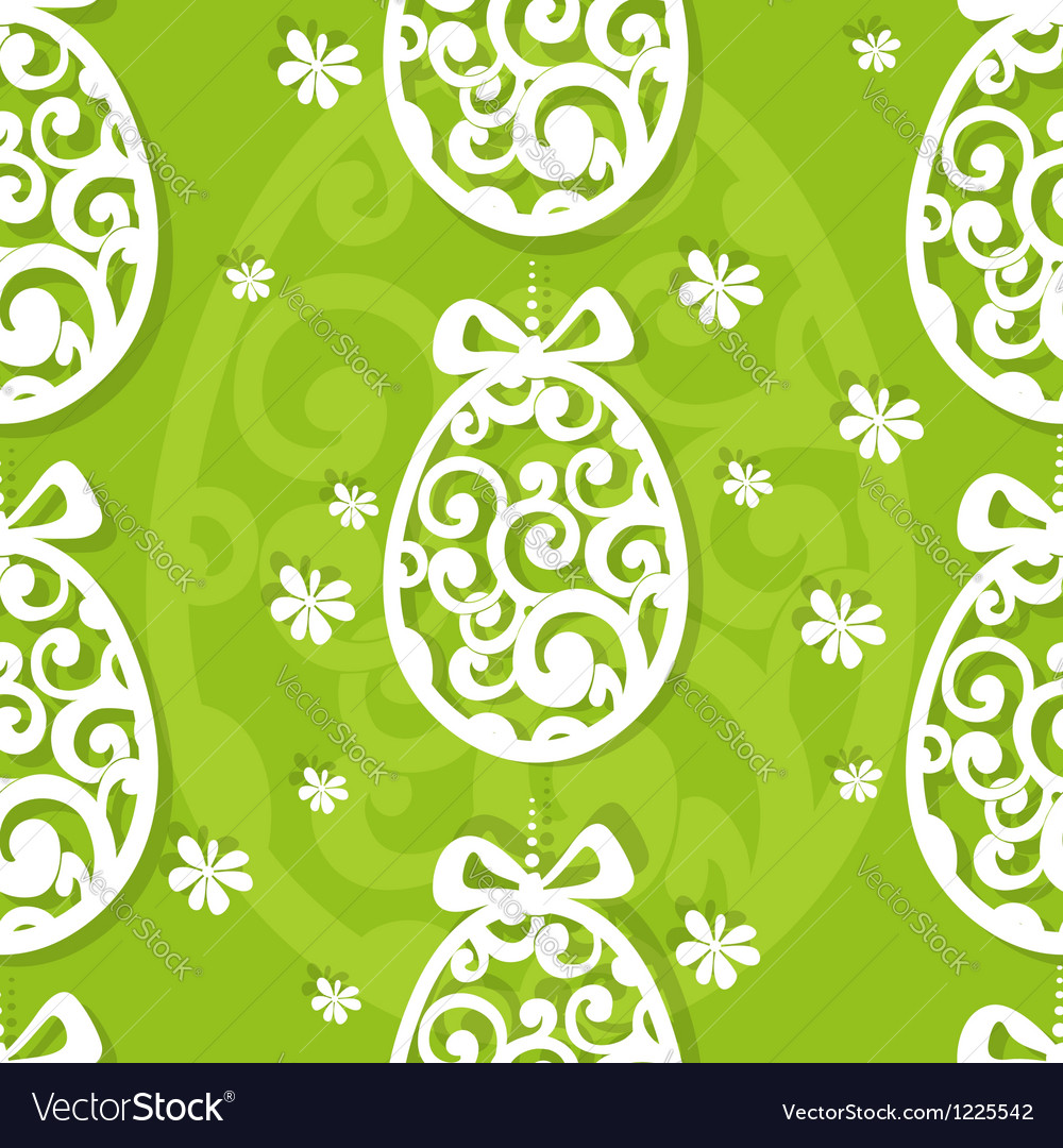 Easter egg openwork appliques seamless background vector | Price: 3 Credit (USD $3)