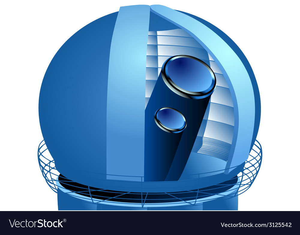 Observatory telescope vector | Price: 1 Credit (USD $1)