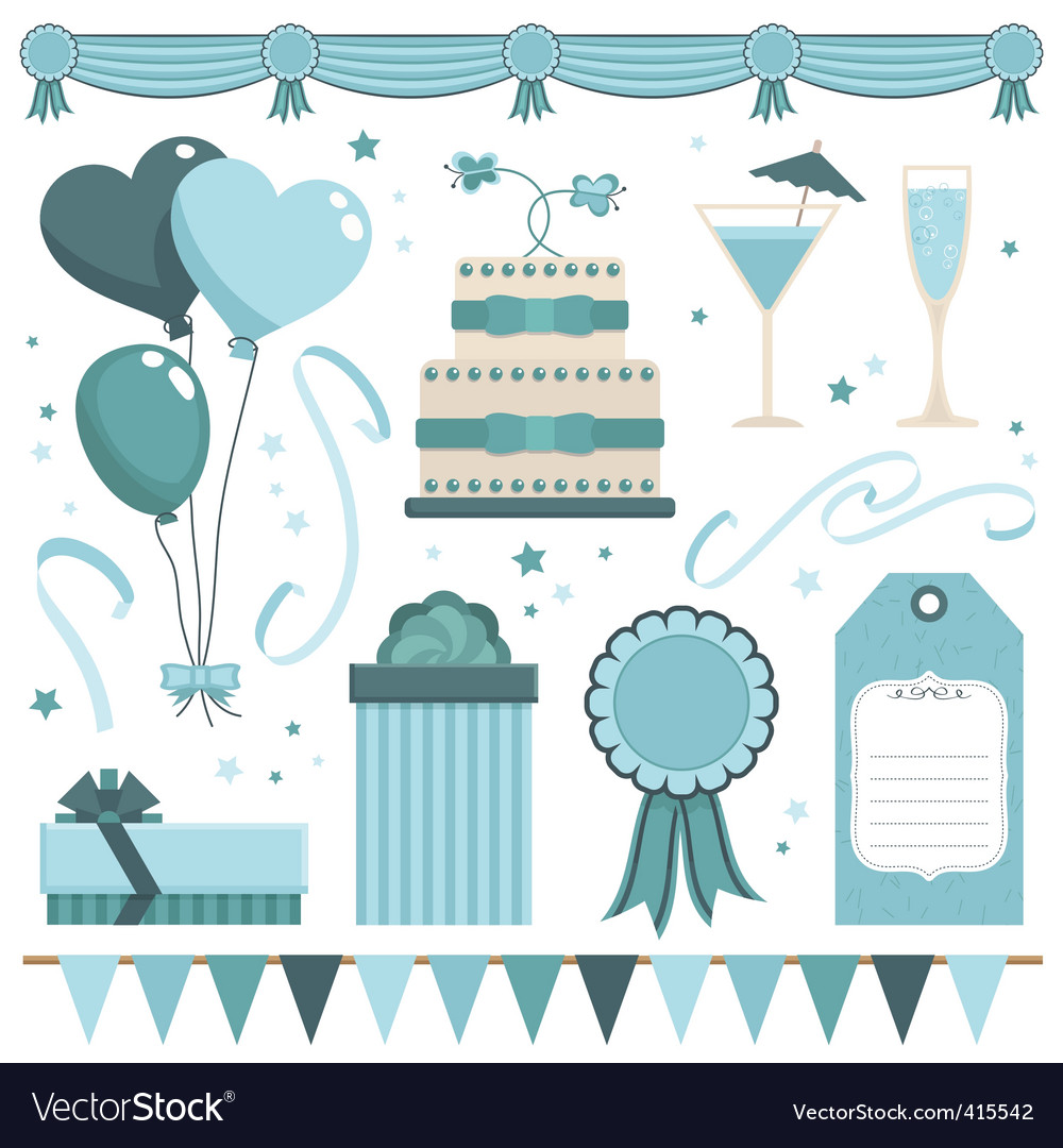 Party objects vector | Price: 1 Credit (USD $1)