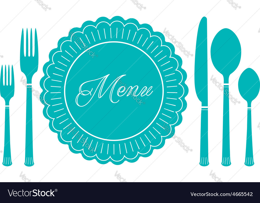 Plate knife and fork icon menu sign vector | Price: 1 Credit (USD $1)