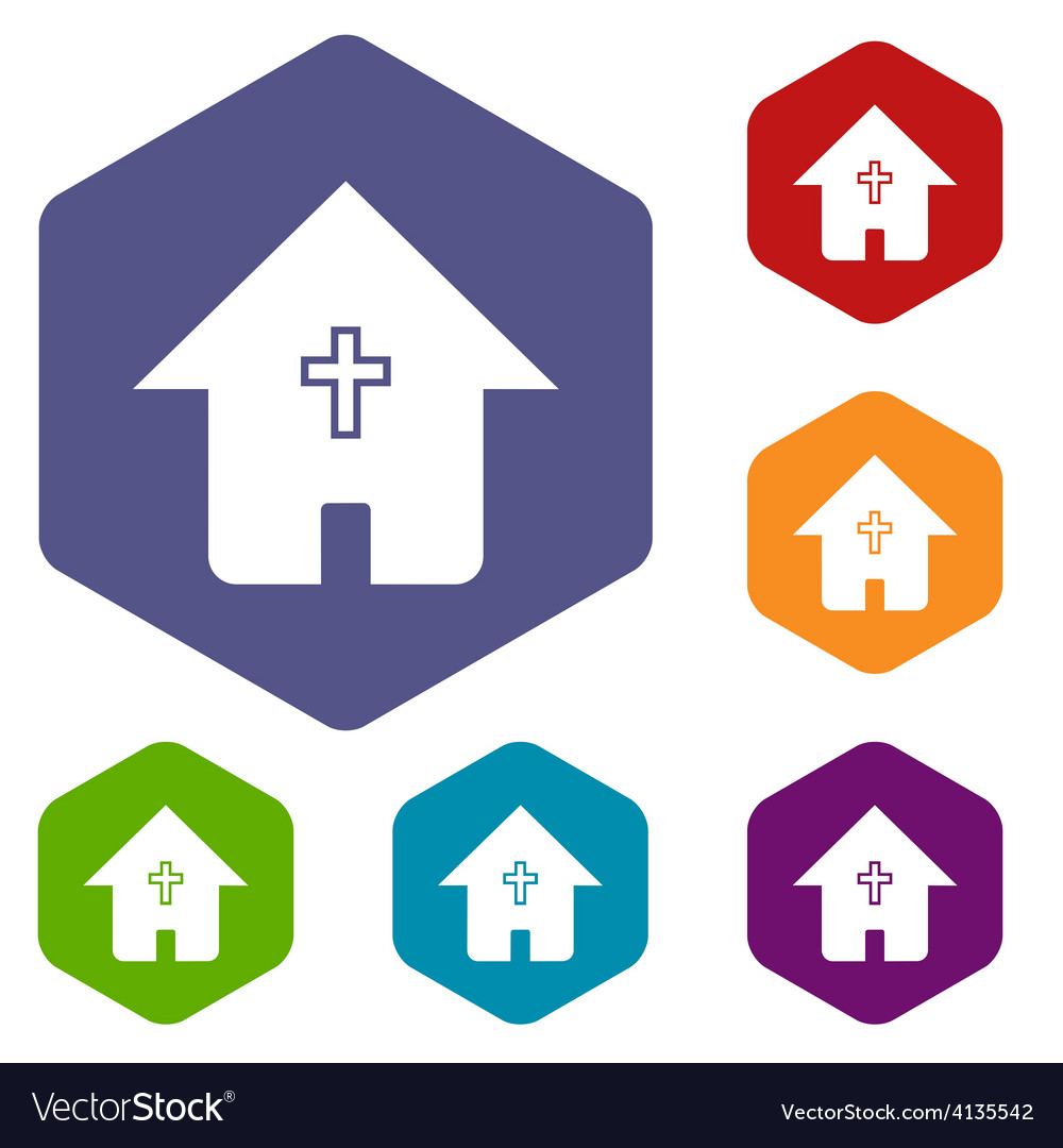 Protestant church rhombus icons vector   Price: 1 Credit (USD $1)