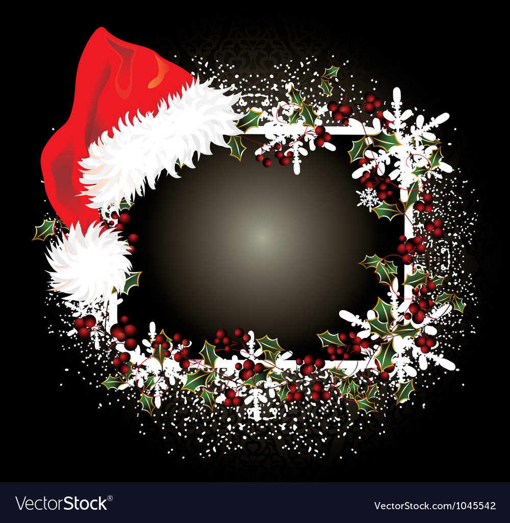 Santa claus red hat vector | Price: 1 Credit (USD $1)