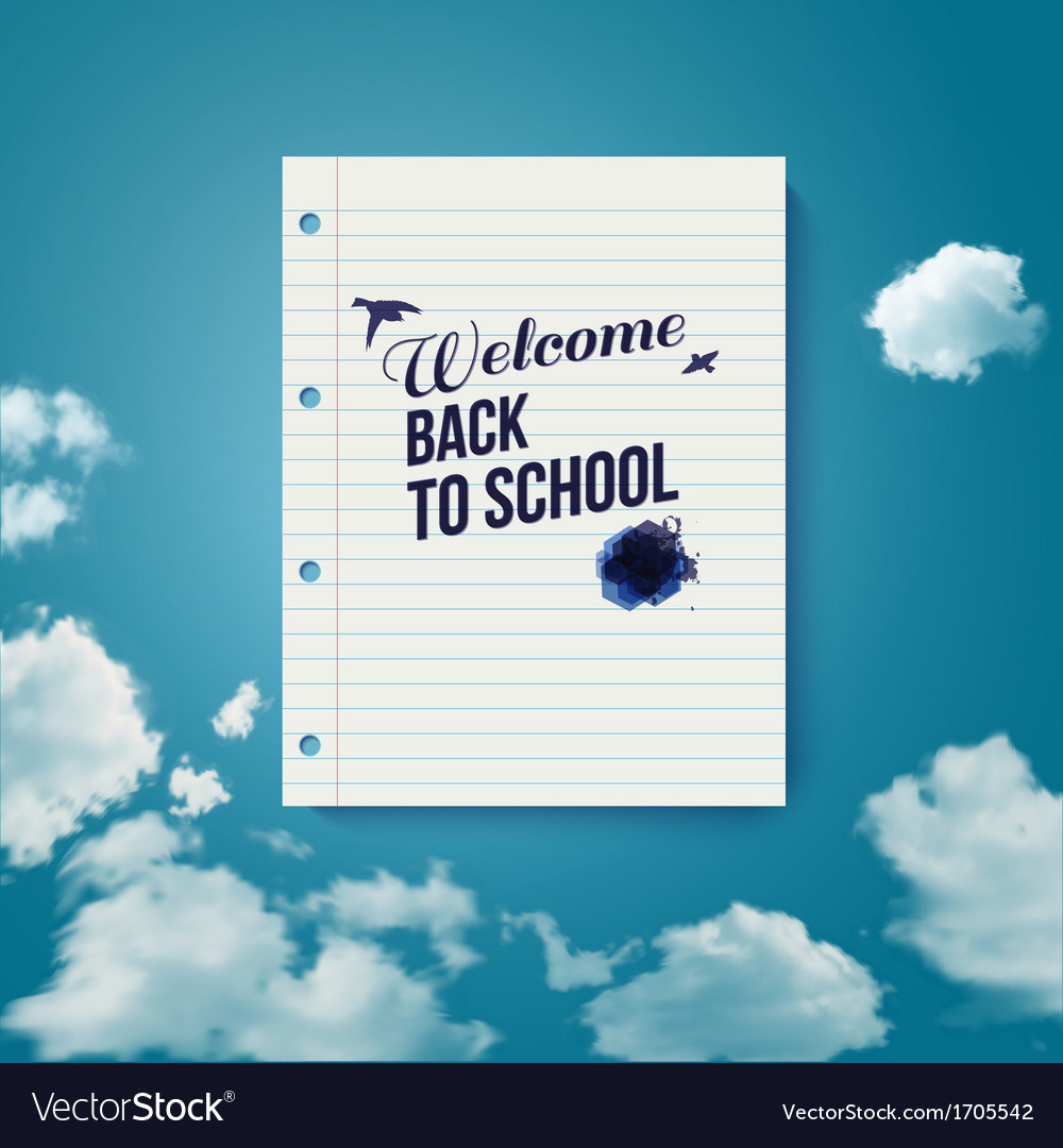 Welcome back to school motivating poster vector | Price: 1 Credit (USD $1)