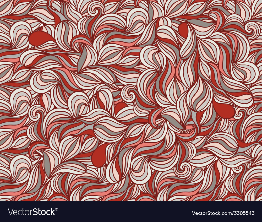 Background with abstract doodle waves vector | Price: 1 Credit (USD $1)