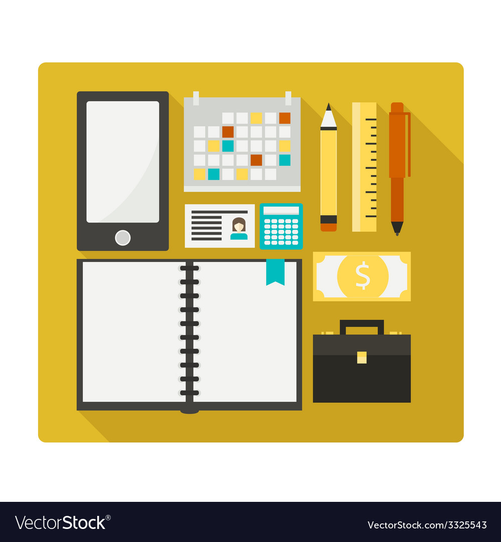 Business objects vector | Price: 1 Credit (USD $1)