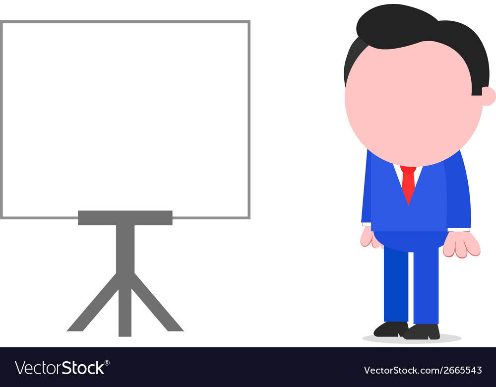 Businessman standing beside chart vector | Price: 1 Credit (USD $1)