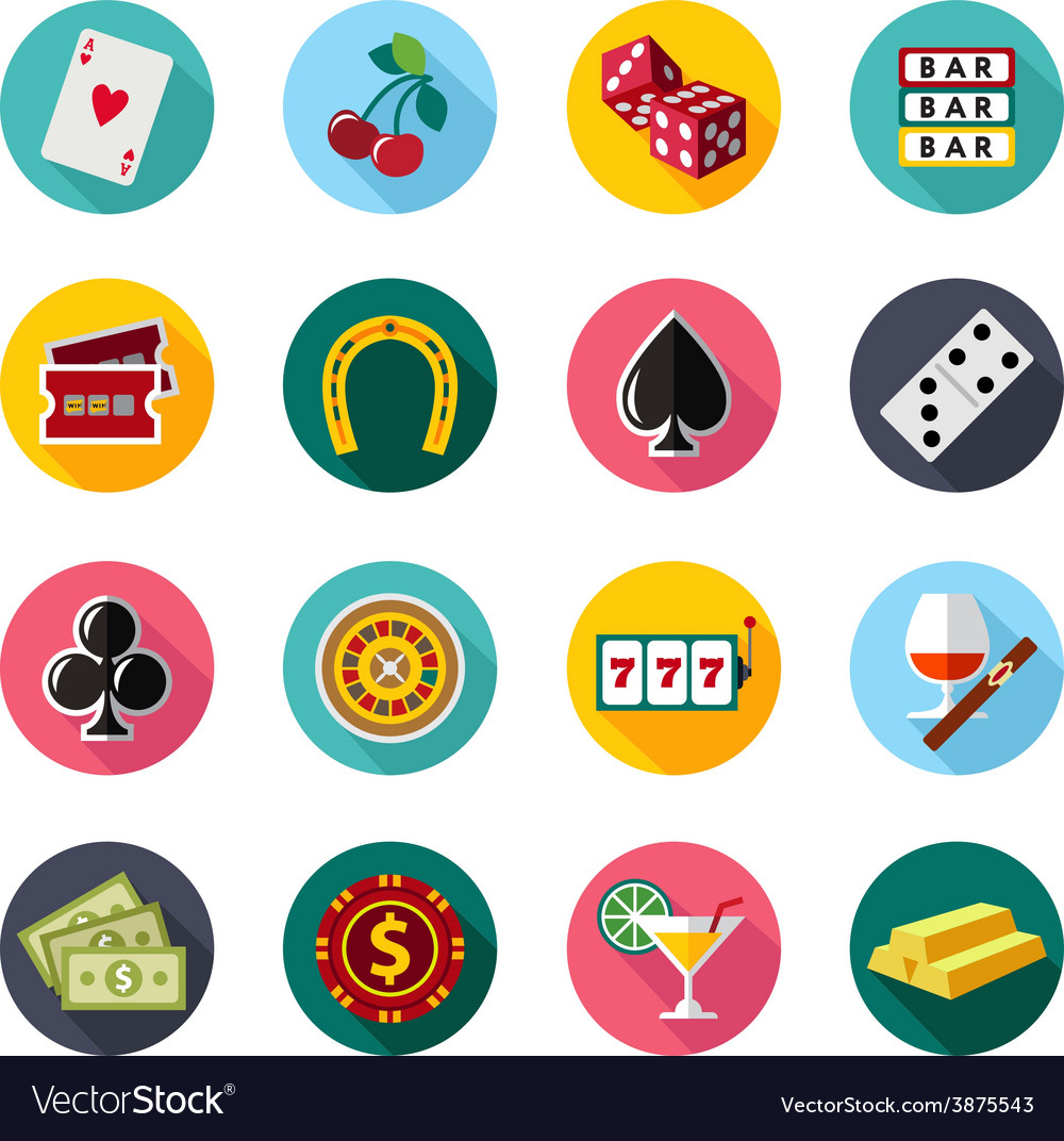 Colorful flat icons set quality design vector | Price: 1 Credit (USD $1)