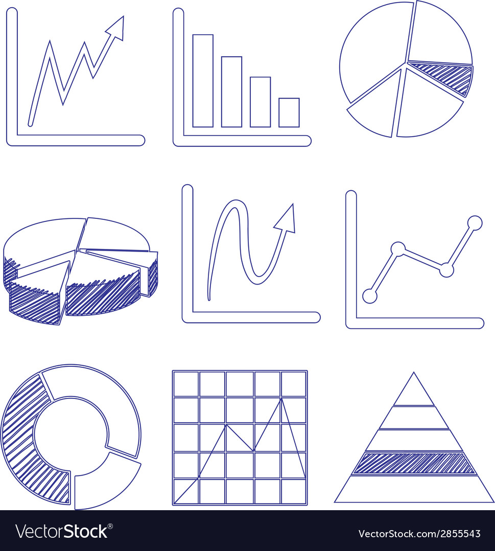 Different graphs vector | Price: 1 Credit (USD $1)