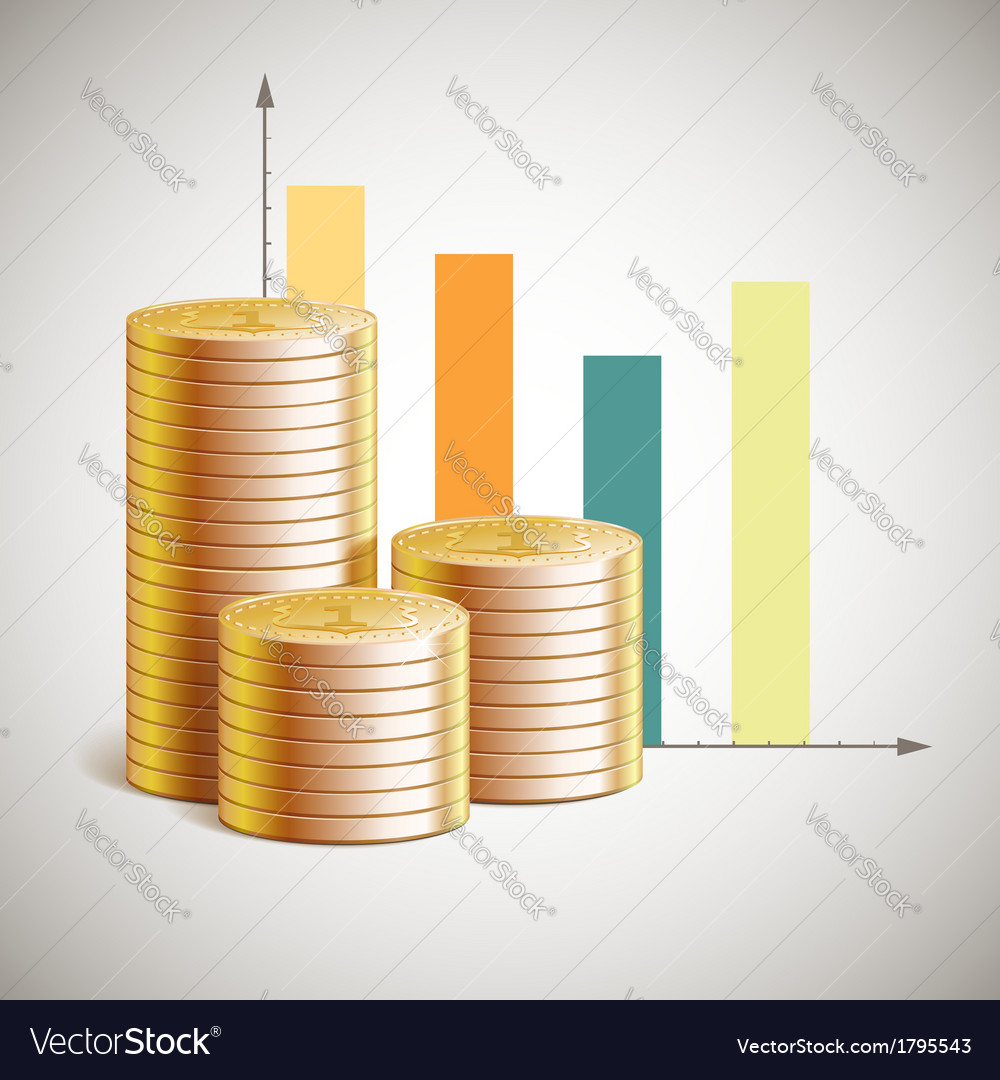 Theme of business with cents vector | Price: 1 Credit (USD $1)