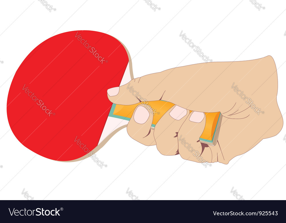 Hand with a tennis racket vector | Price: 1 Credit (USD $1)