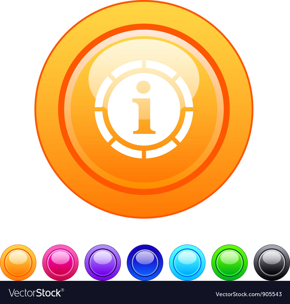 Information circle button vector | Price: 1 Credit (USD $1)