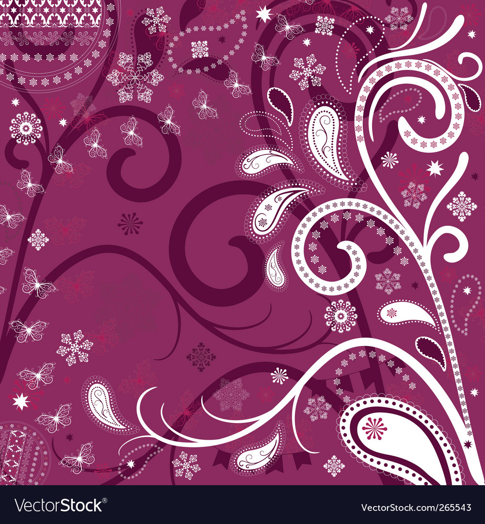 Purple and white christmas frame vector | Price: 1 Credit (USD $1)