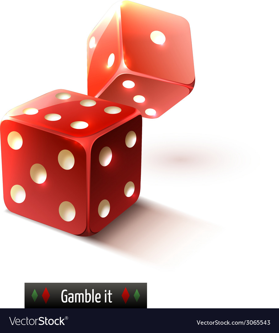 Realistic dice isolated vector | Price: 1 Credit (USD $1)