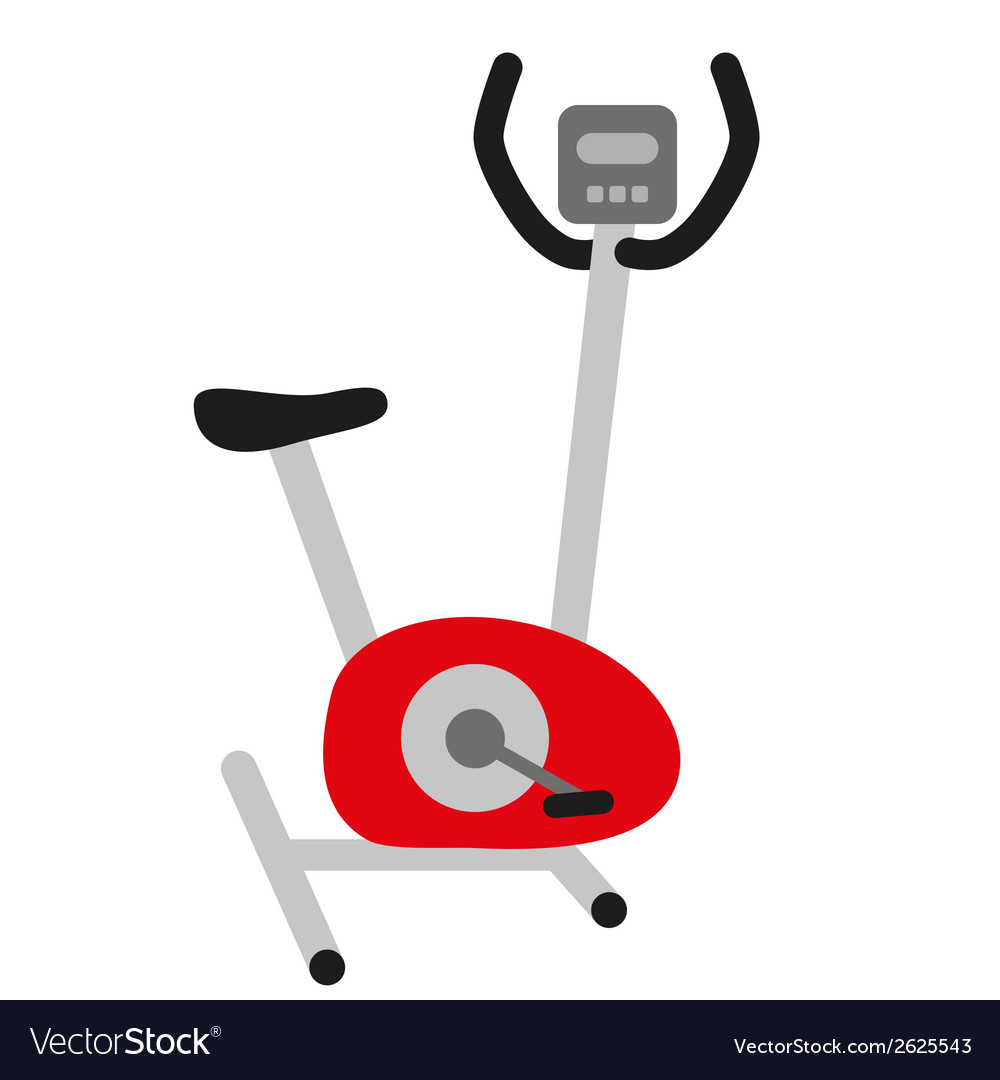 Red stationary bicycle vector | Price: 1 Credit (USD $1)