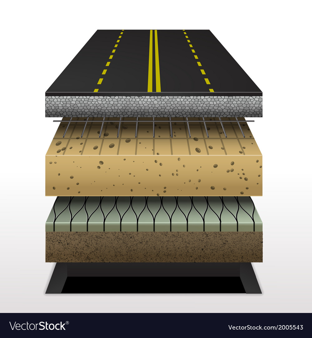 Section of asphalt road vector | Price: 1 Credit (USD $1)