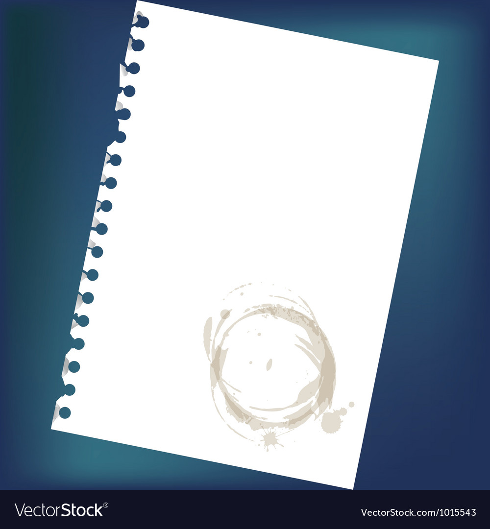 Stained notepad paper vector   Price: 1 Credit (USD $1)