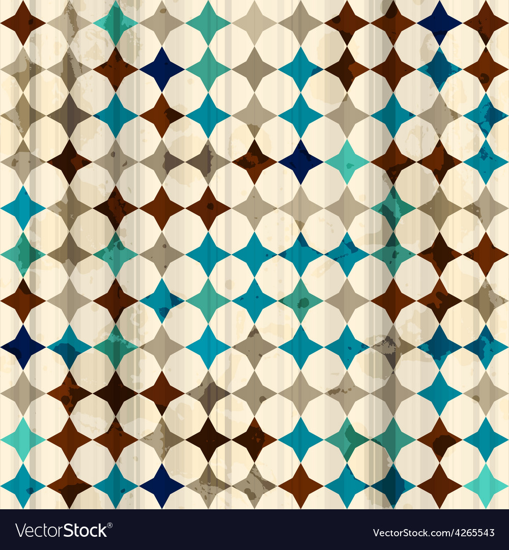 Vintage mosaic seamless texture vector | Price: 1 Credit (USD $1)