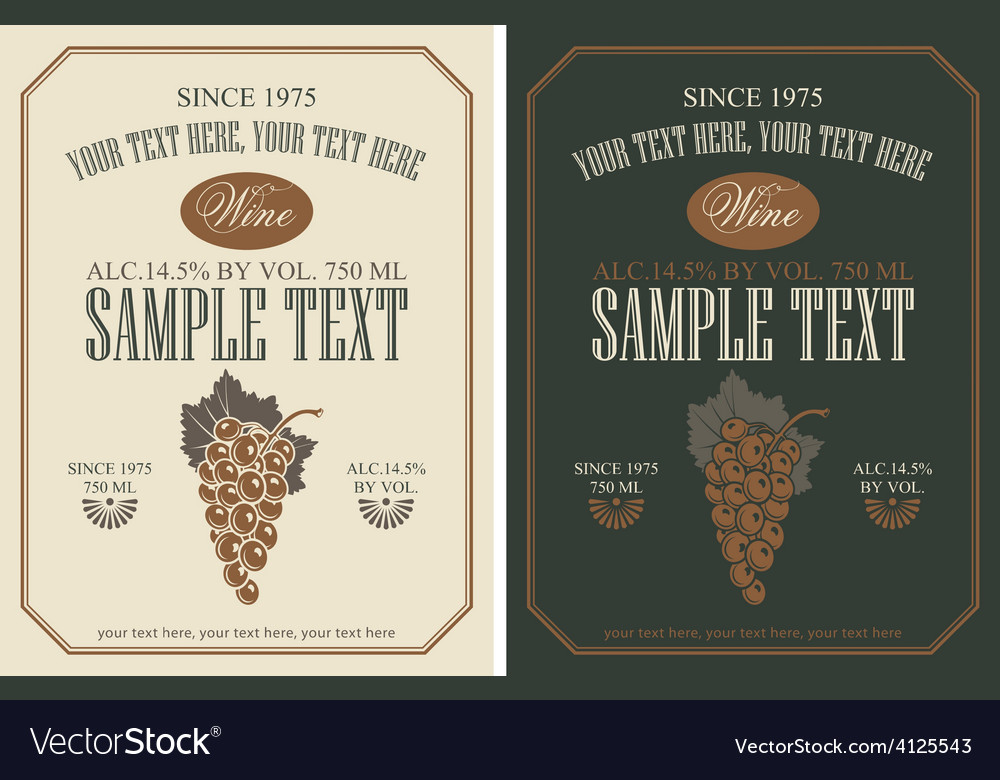 Wine label vector | Price: 1 Credit (USD $1)