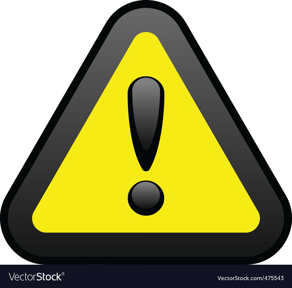 Yellow warning sign vector | Price: 1 Credit (USD $1)
