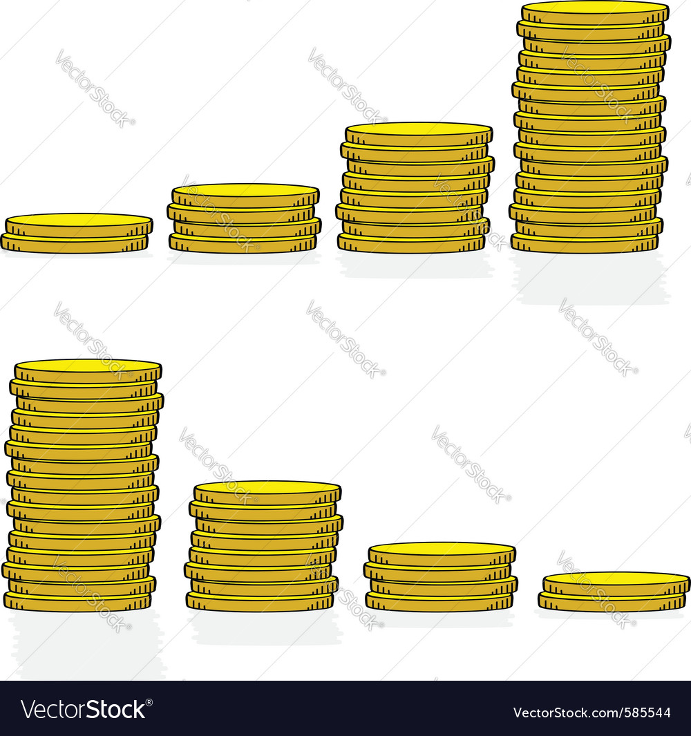 Coin graphs vector | Price: 1 Credit (USD $1)