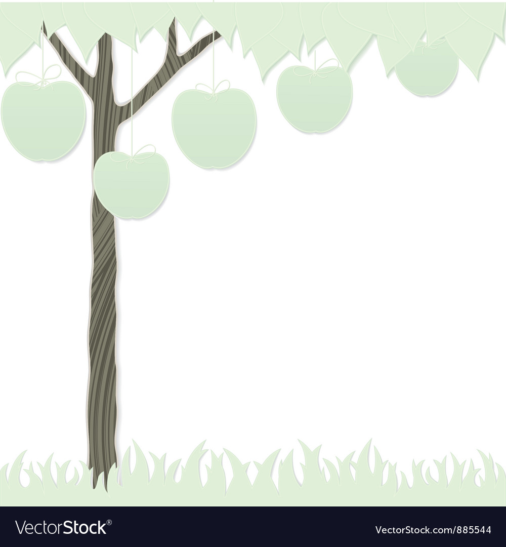Cutout tree white vector | Price: 1 Credit (USD $1)