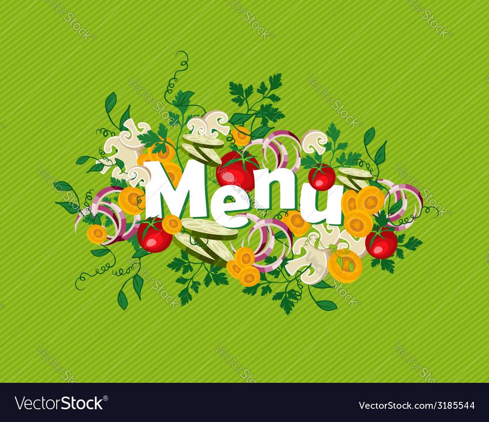 Healthy food menu vector | Price: 1 Credit (USD $1)
