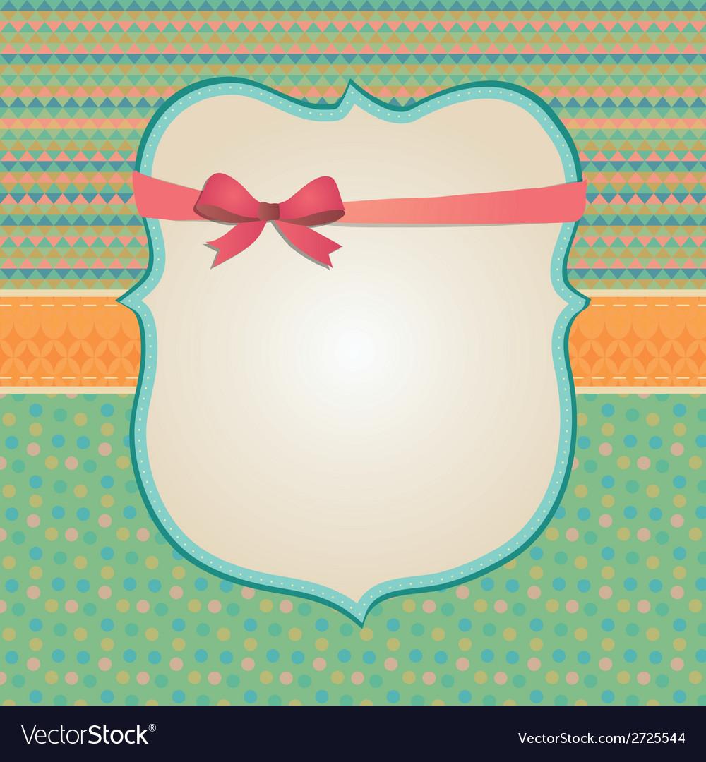 Invitation card background border frame patterns vector | Price: 1 Credit (USD $1)